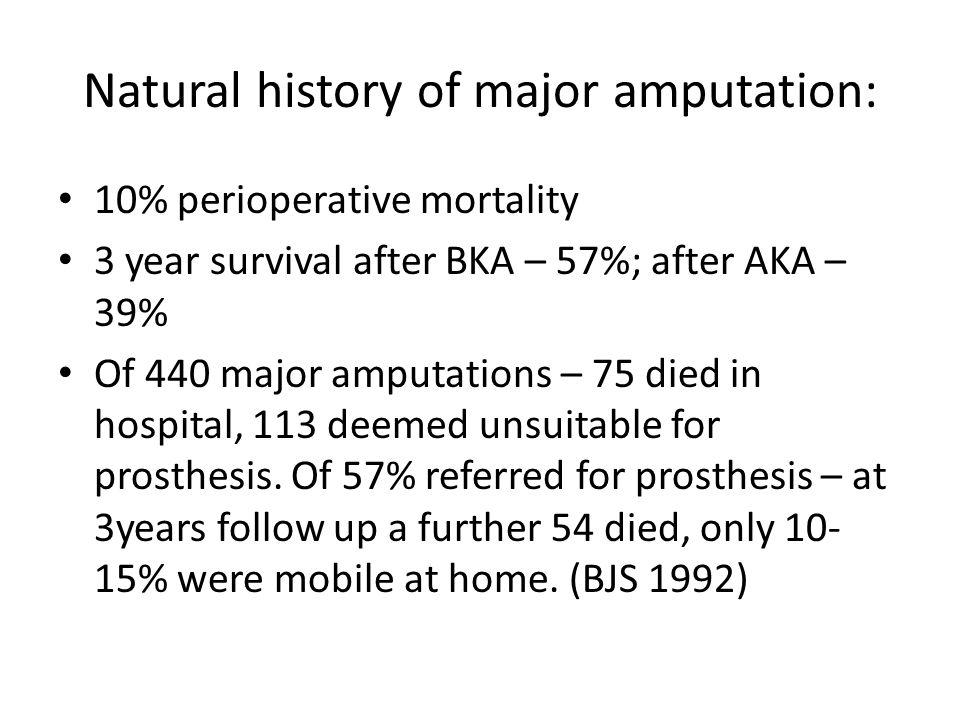 Natural history of major amputation: