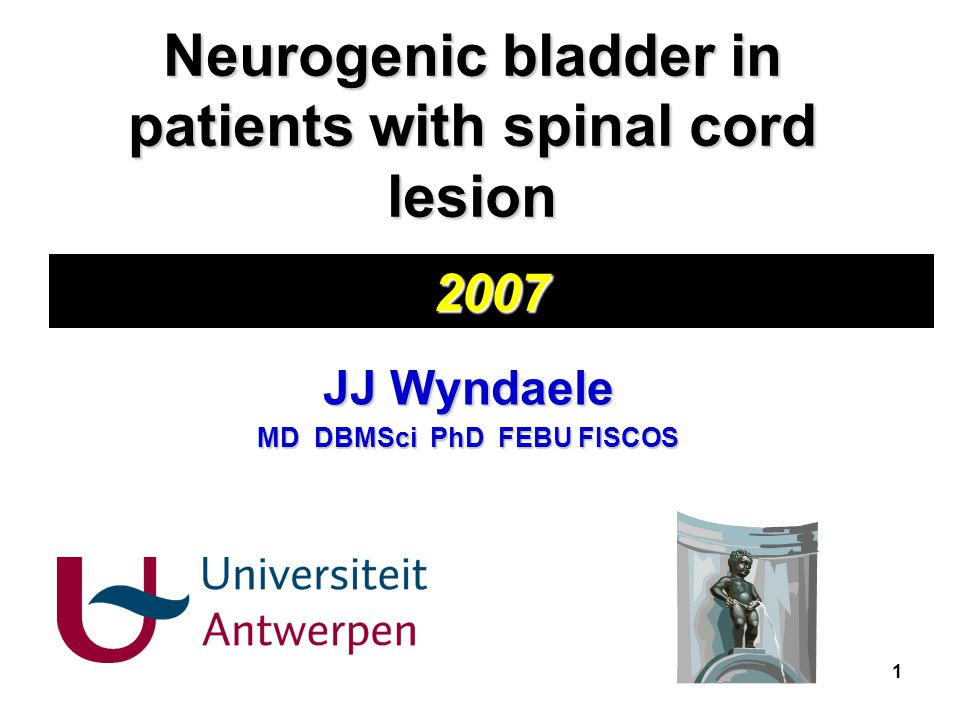 Neurogenic bladder in patients with spinal cord lesion