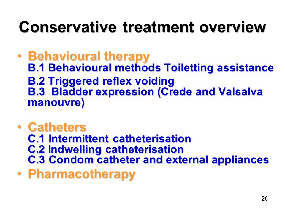 Conservative treatment overview