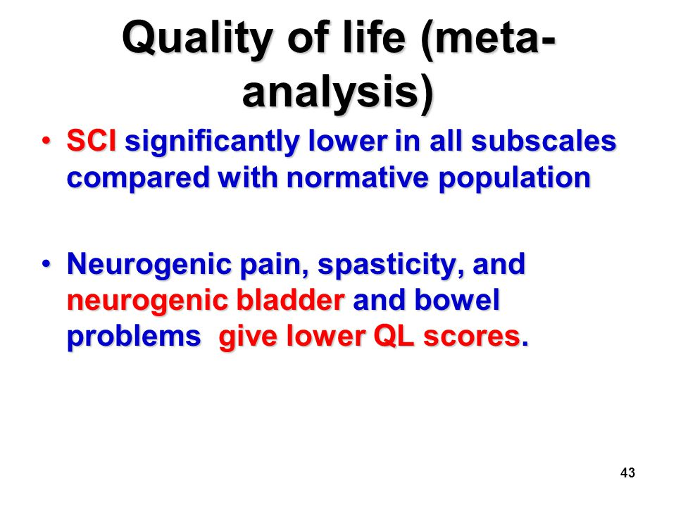 Quality of life (meta-analysis)