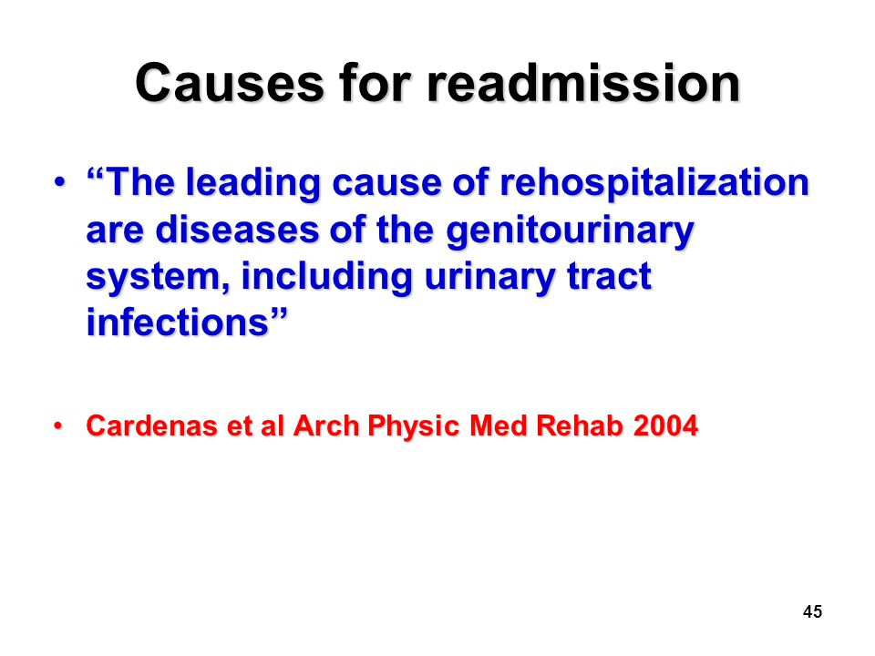 Causes for readmission