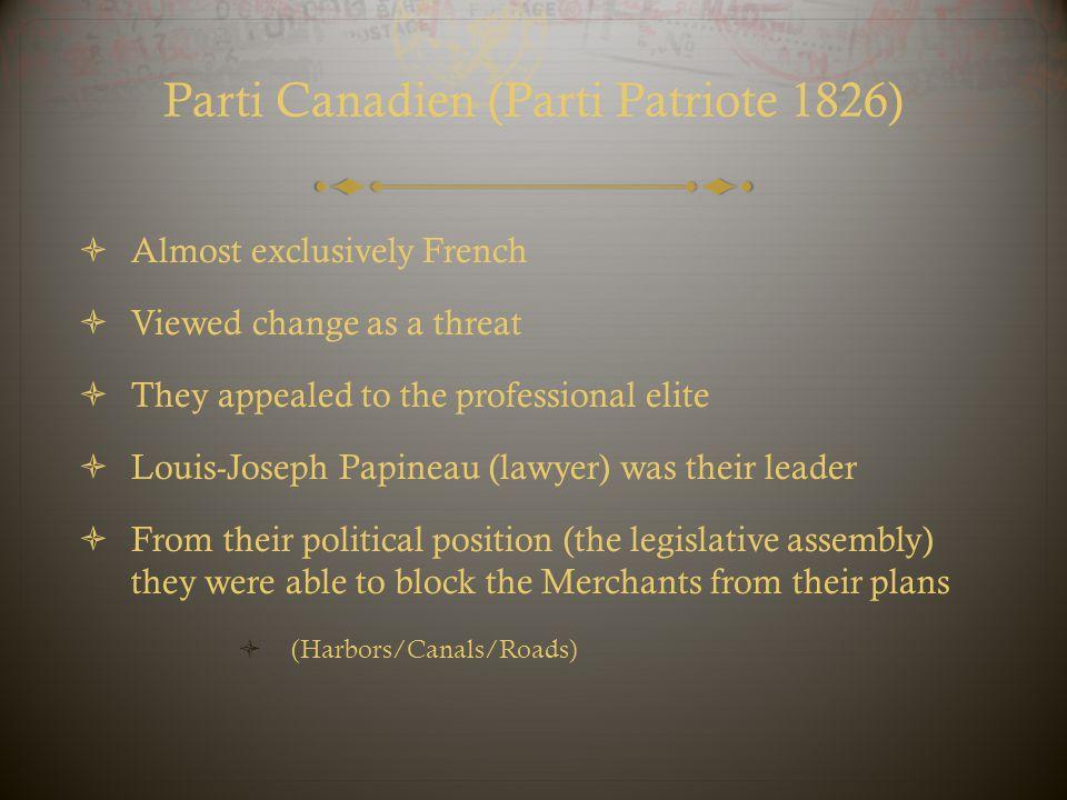 Parti Canadien (Parti Patriote 1826)