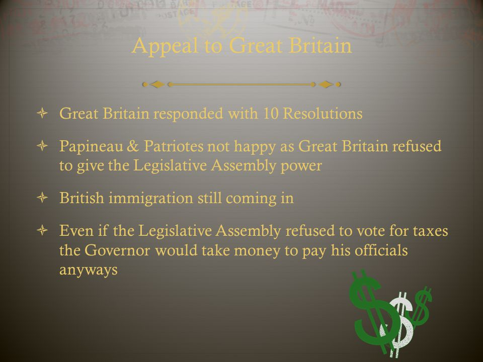 Appeal to Great Britain