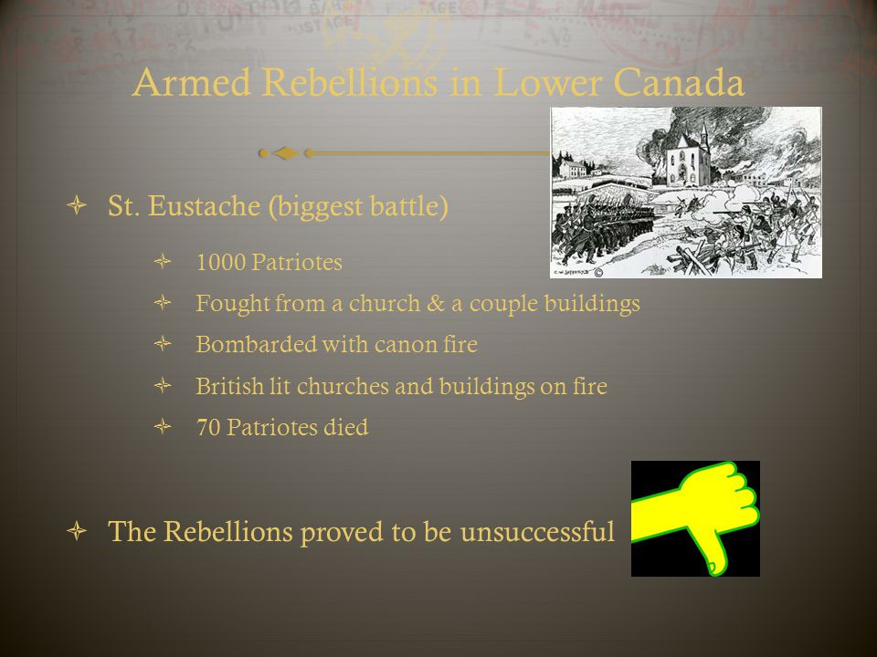 Armed Rebellions in Lower Canada