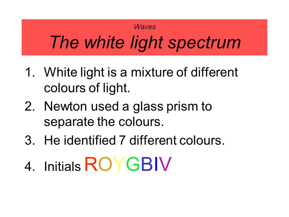 Waves The white light spectrum
