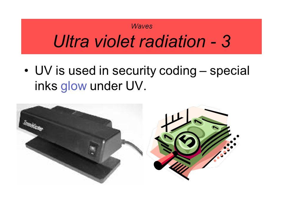 Waves Ultra violet radiation - 3