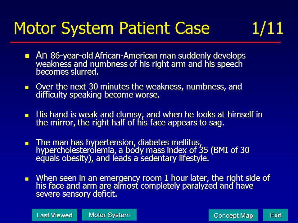 Motor System Patient Case 1/11