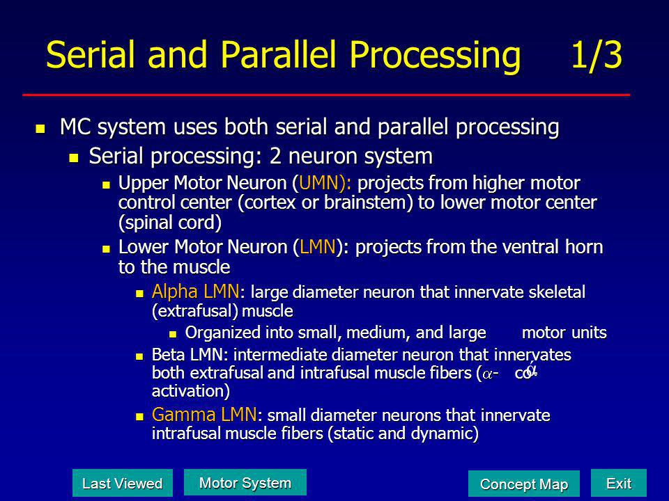 Serial and Parallel Processing 1/3