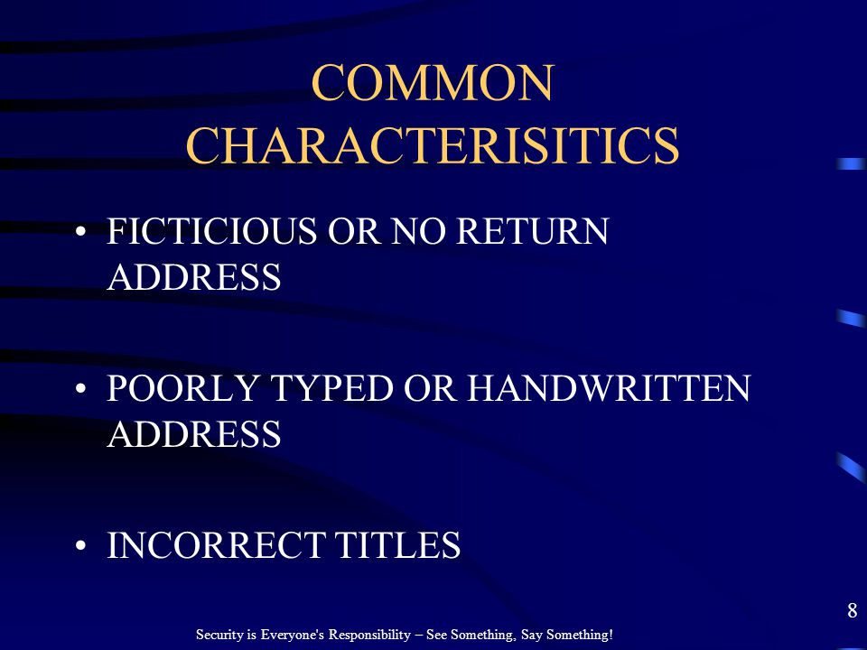 COMMON CHARACTERISITICS