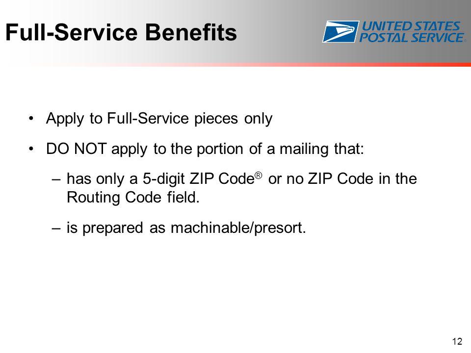 Full-Service Benefits