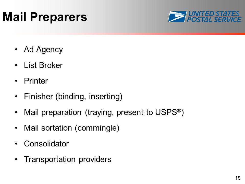 Mail Preparers Ad Agency List Broker Printer