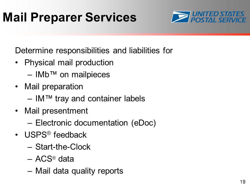 Mail Preparer Services