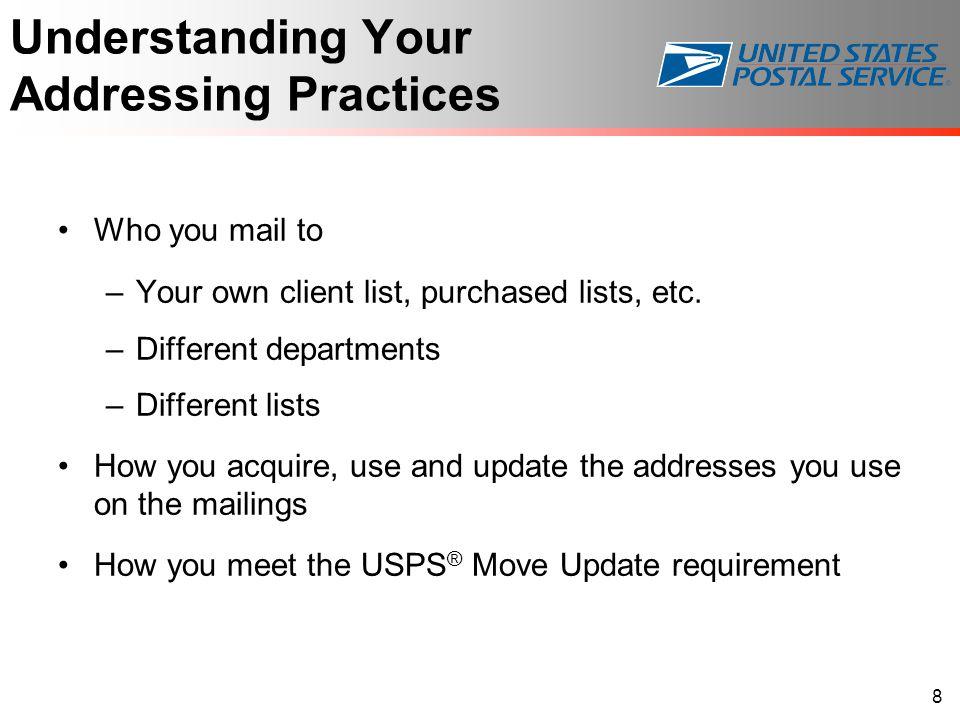 Understanding Your Addressing Practices