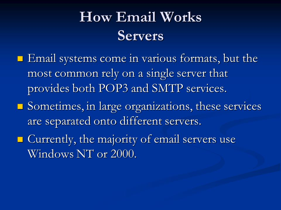 How Email Works Servers