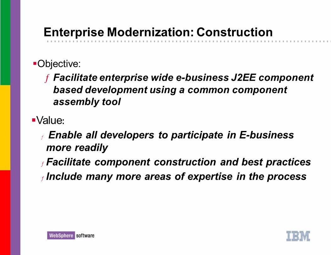 Enterprise Modernization: Construction