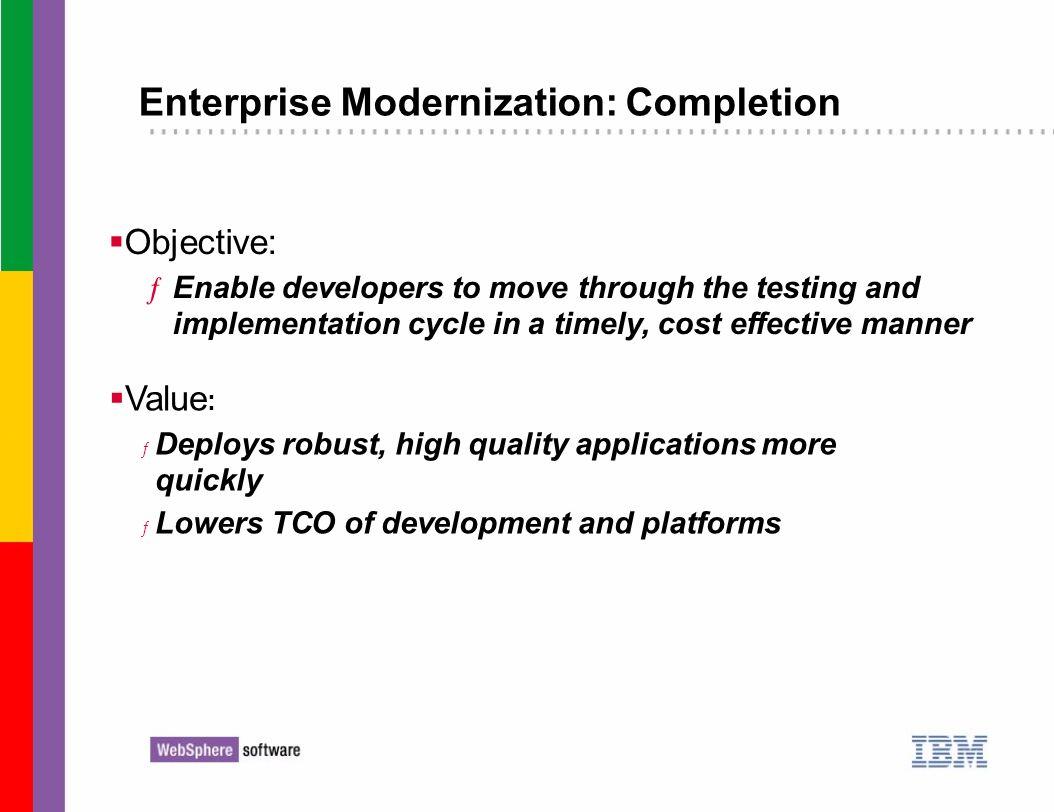 Enterprise Modernization: Completion