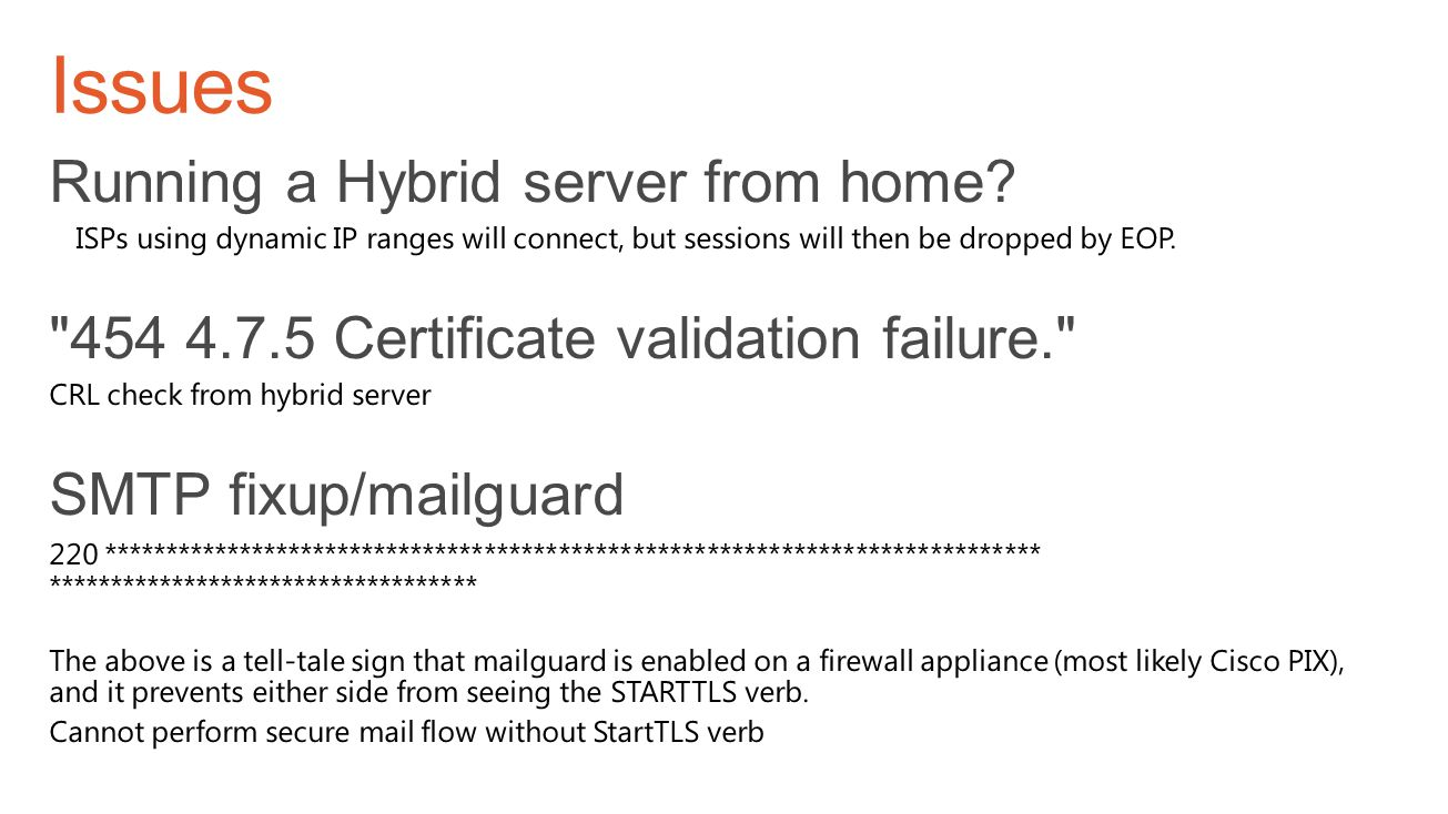 Issues Running a Hybrid server from home