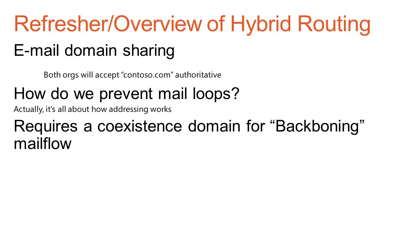 Refresher/Overview of Hybrid Routing