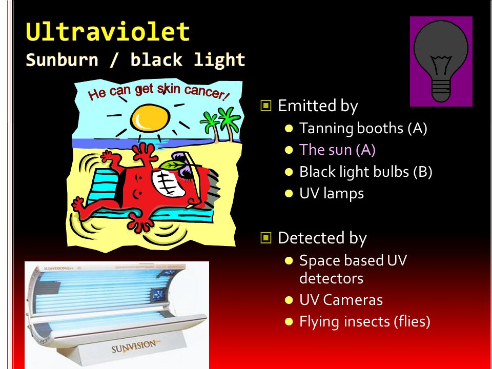 Ultraviolet Sunburn / black light