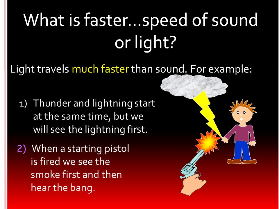 What is faster…speed of sound or light