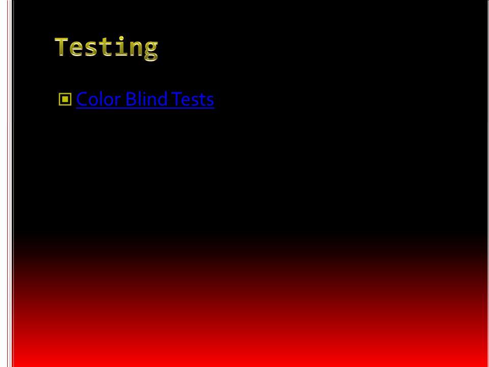 Testing Color Blind Tests