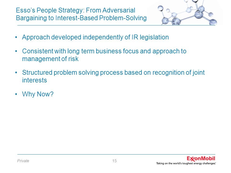 Esso's People Strategy: From Adversarial Bargaining to Interest-Based Problem-Solving