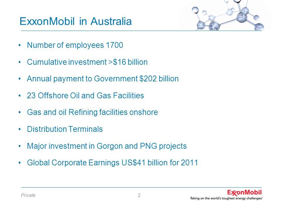 ExxonMobil in Australia
