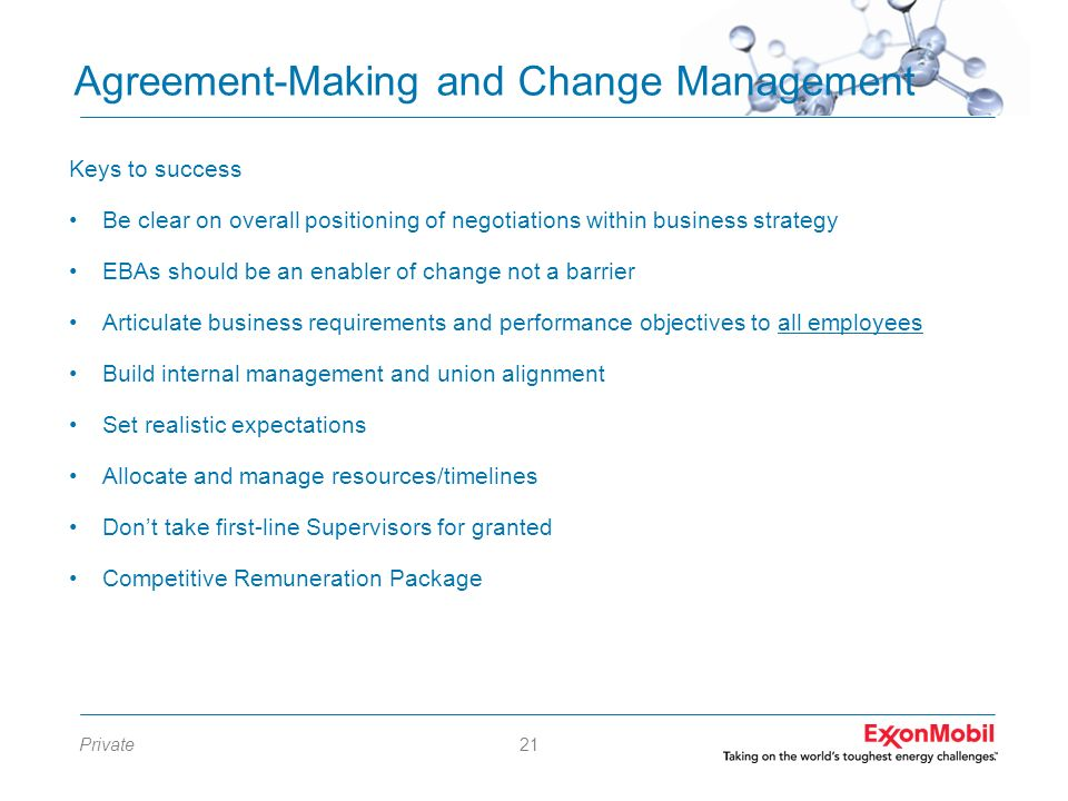 Agreement-Making and Change Management