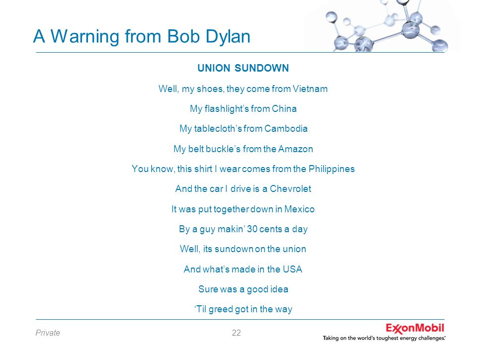 A Warning from Bob Dylan