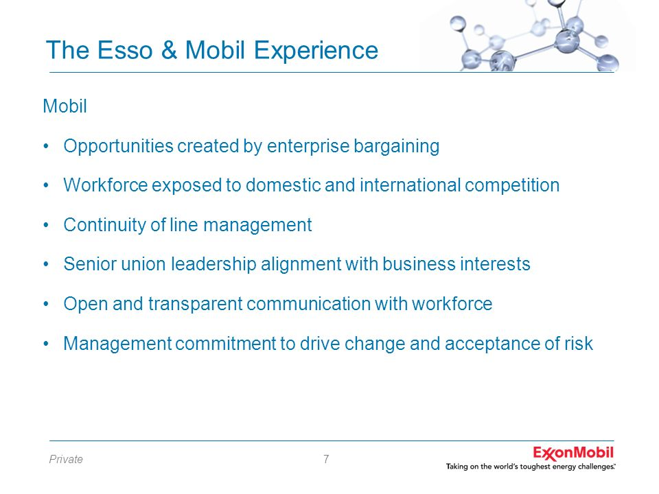 The Esso & Mobil Experience