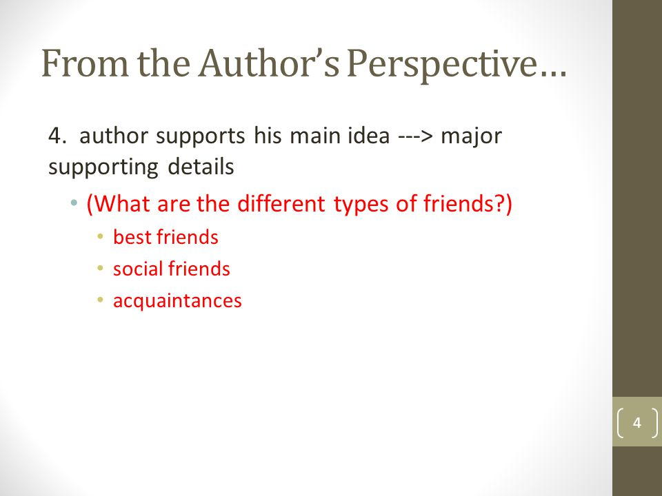 From the Author's Perspective…