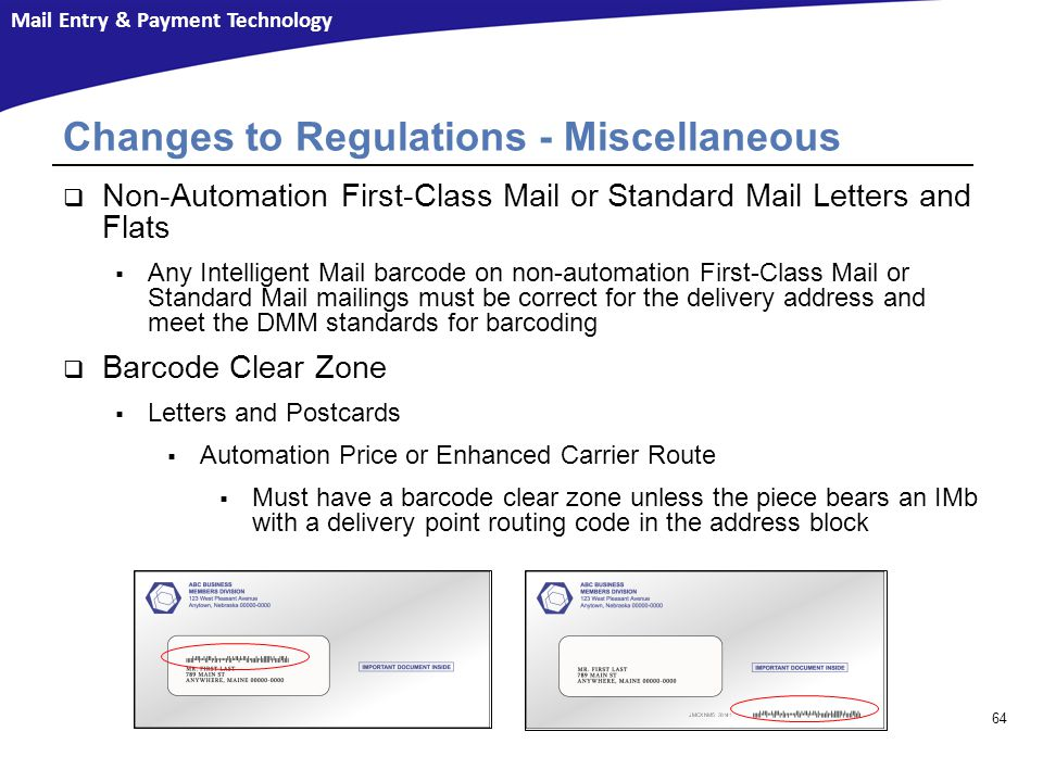 Changes to Regulations - Miscellaneous