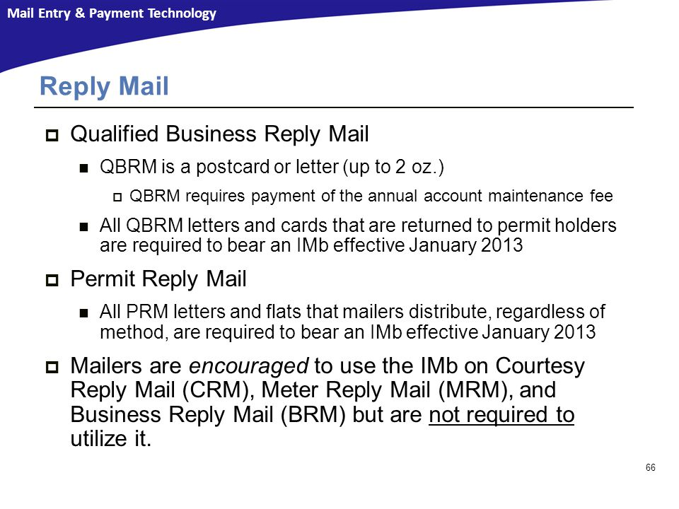 Reply Mail Qualified Business Reply Mail Permit Reply Mail