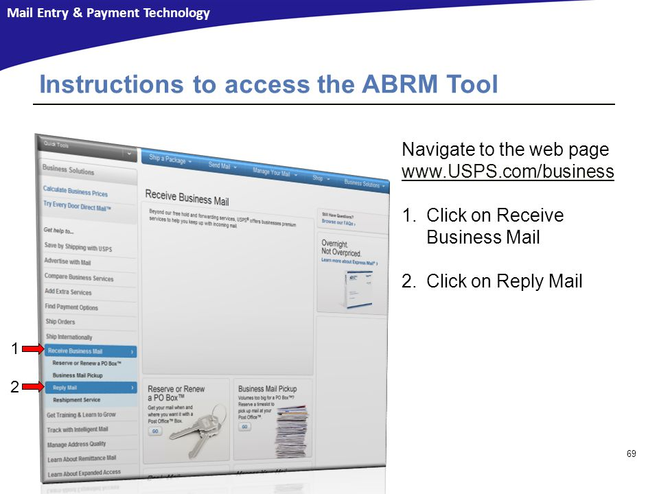 Instructions to access the ABRM Tool