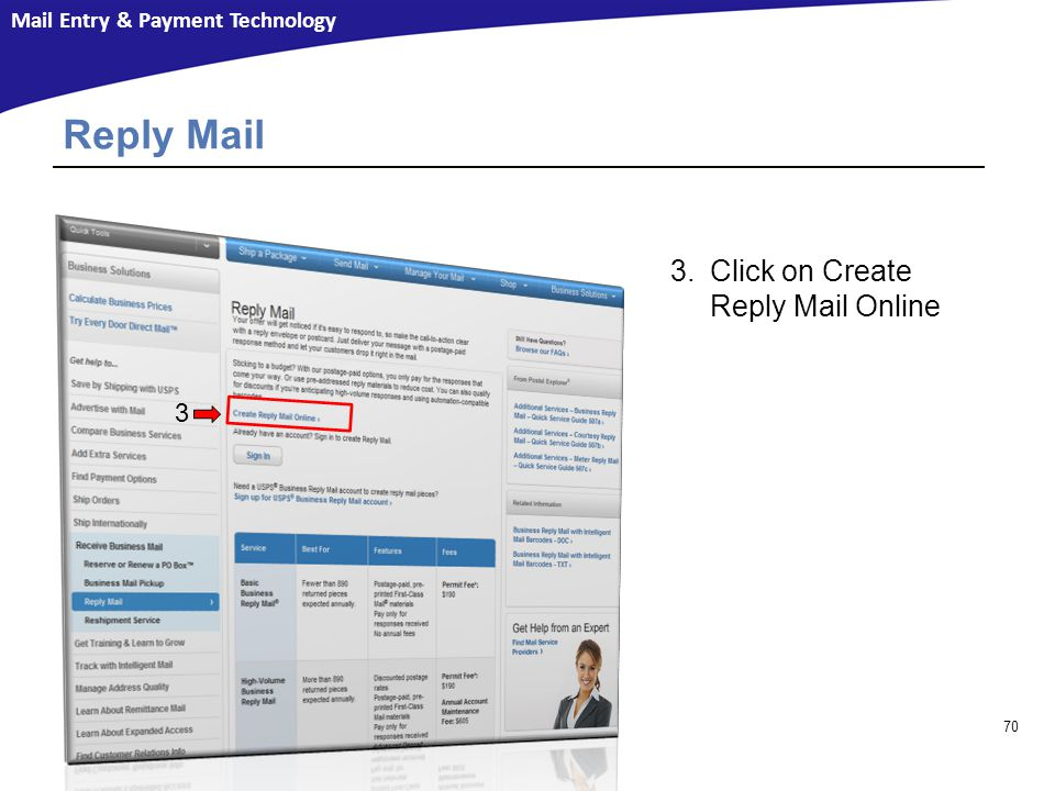 Reply Mail Click on Create Reply Mail Online 3