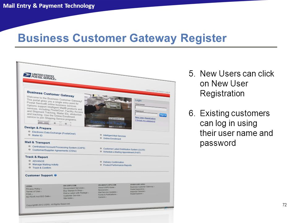 Business Customer Gateway Register