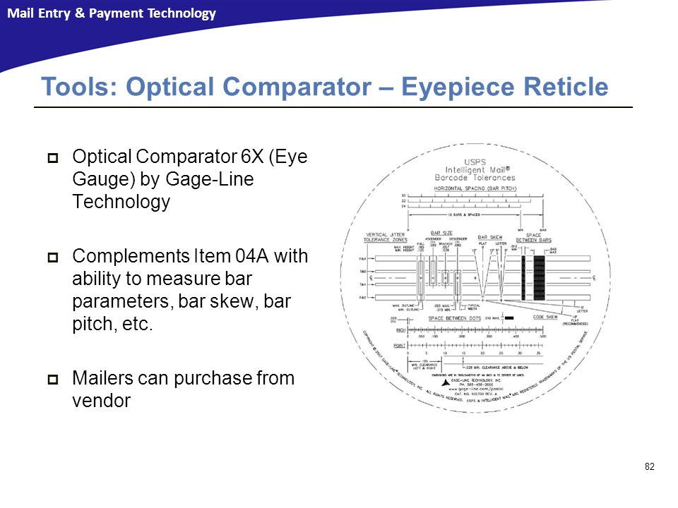 Tools: Optical Comparator – Eyepiece Reticle