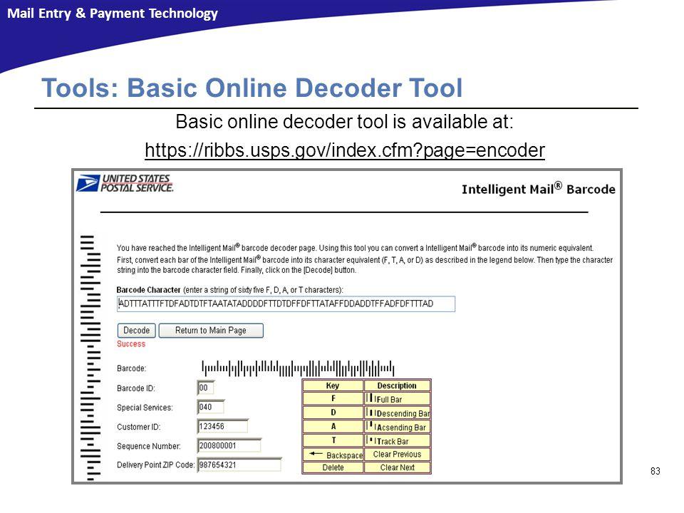 Tools: Basic Online Decoder Tool