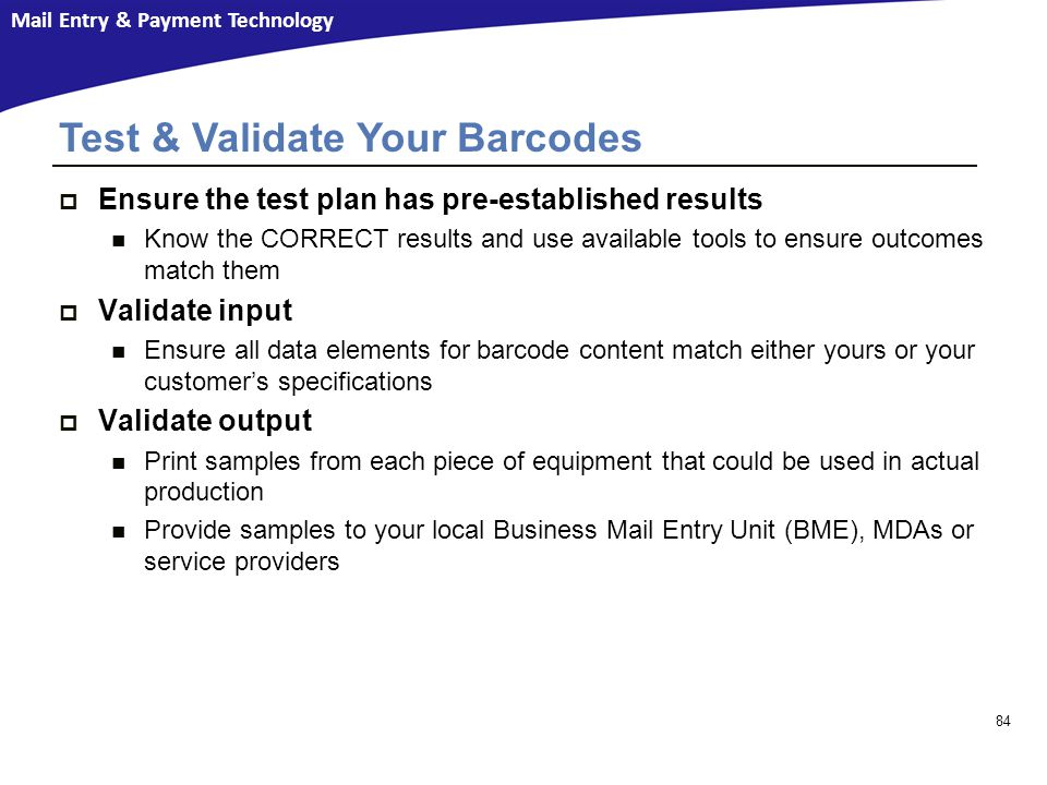Test & Validate Your Barcodes