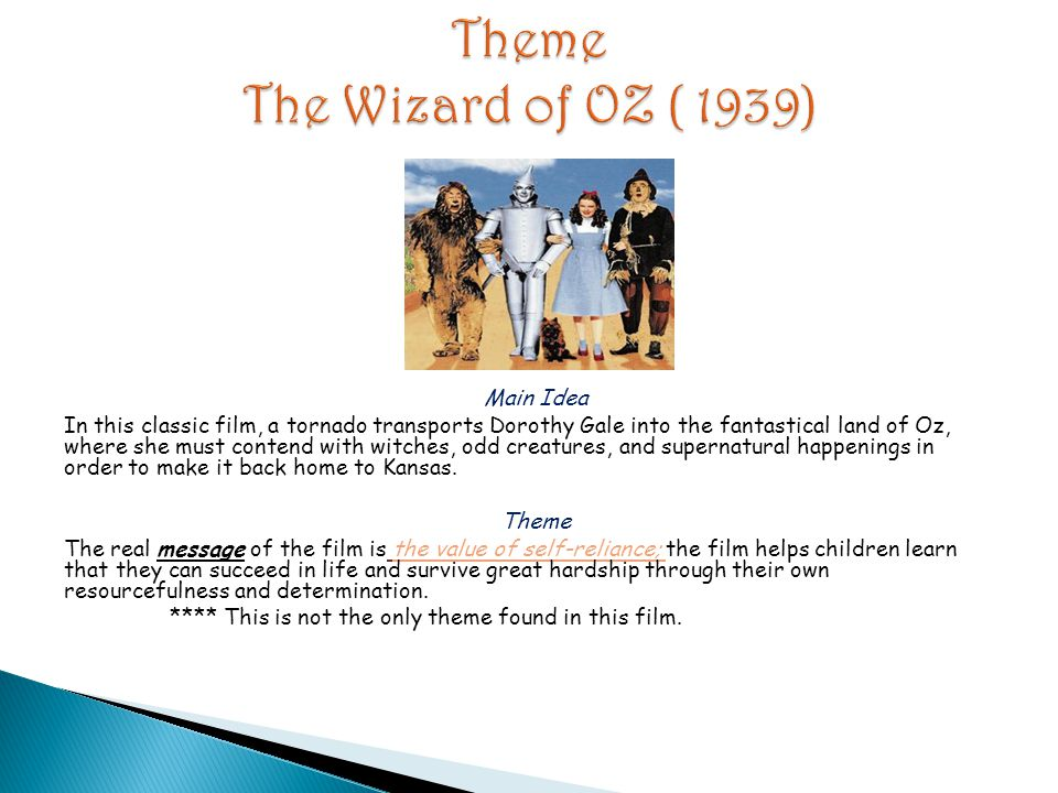 Theme The Wizard of OZ ( 1939)