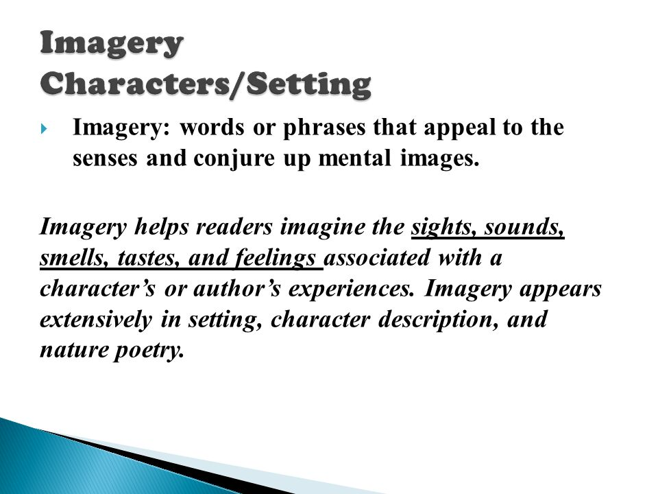 Imagery Characters/Setting