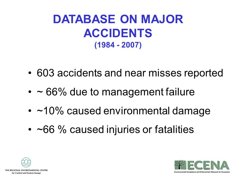 DATABASE ON MAJOR ACCIDENTS (1984 - 2007)