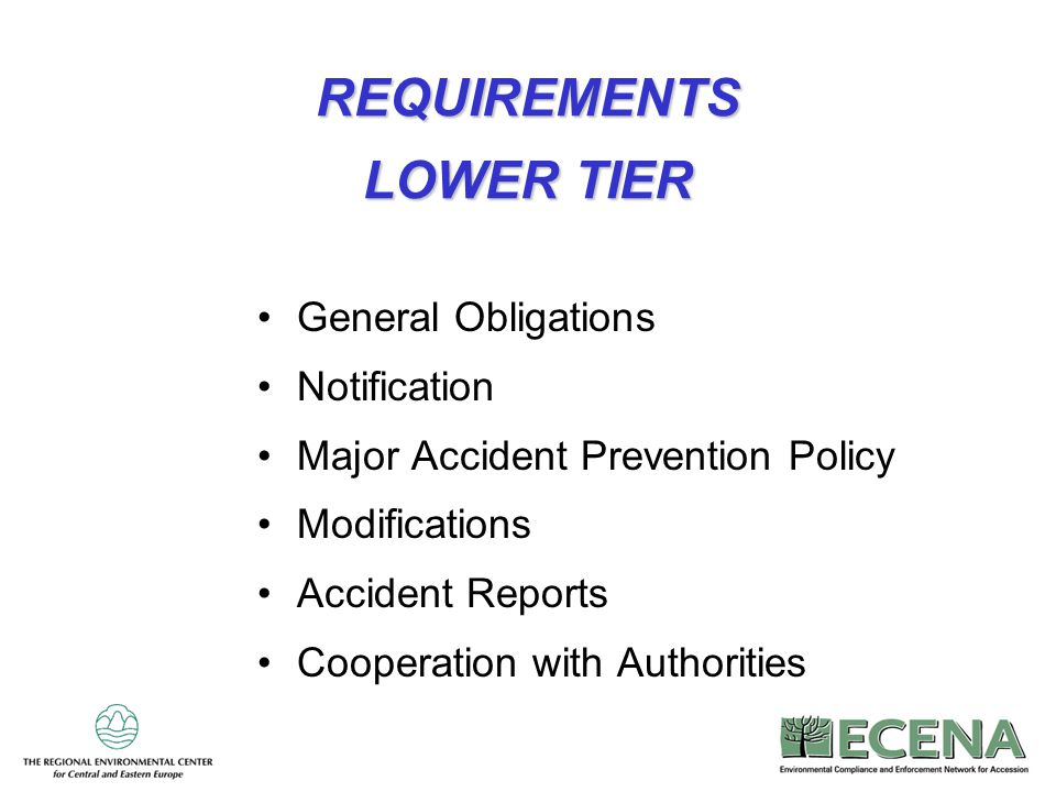 REQUIREMENTS LOWER TIER