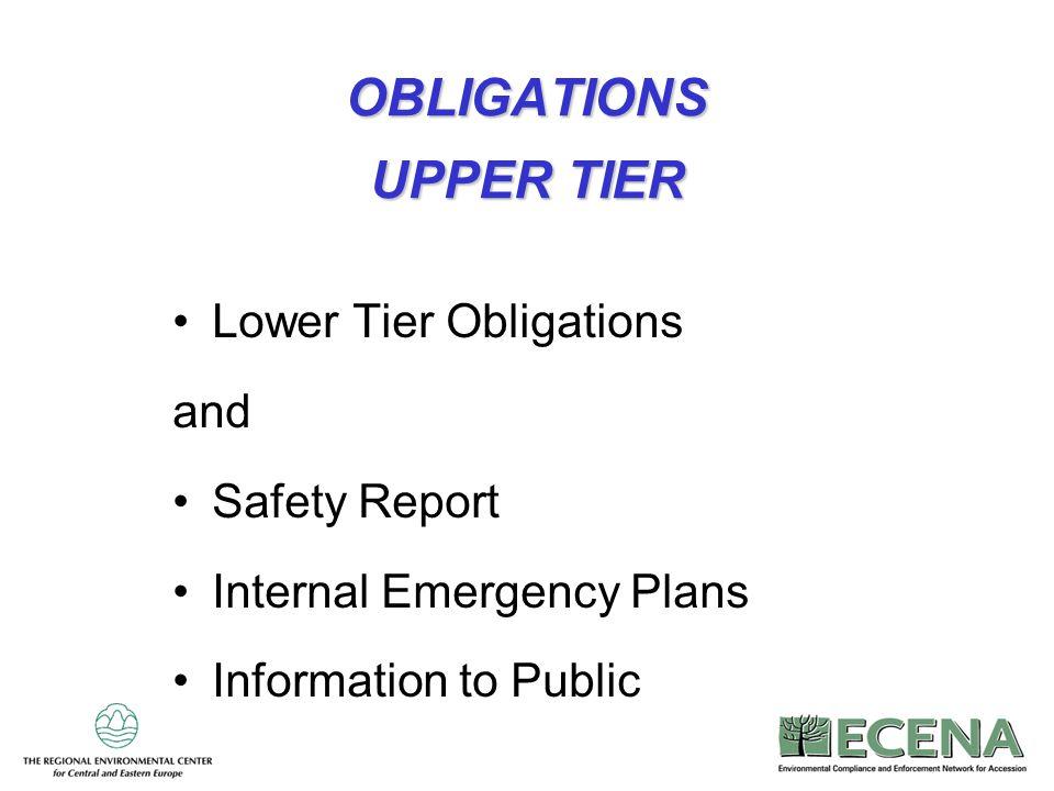 OBLIGATIONS UPPER TIER