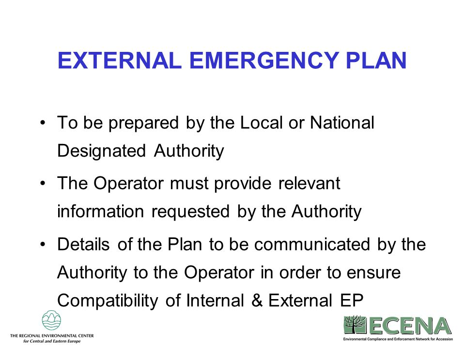 EXTERNAL EMERGENCY PLAN