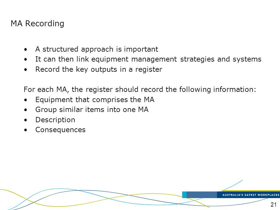 MA Recording A structured approach is important