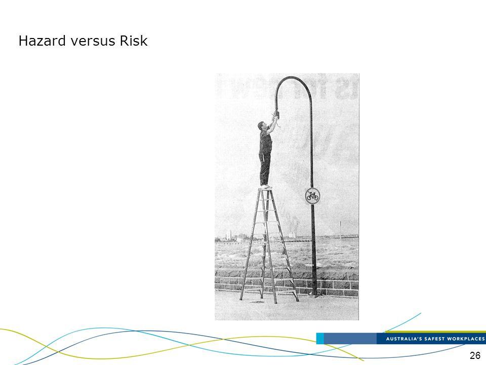 Hazard versus Risk Is that a hazardous task Is it high risk