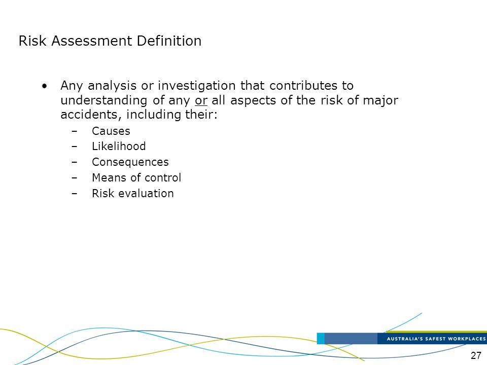 Risk Assessment Definition