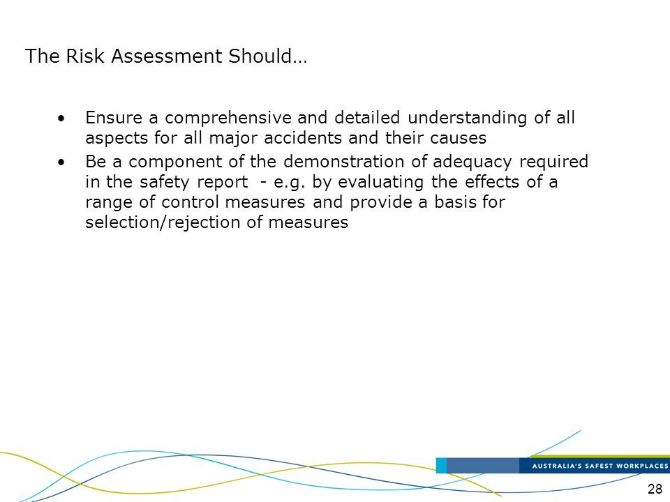 The Risk Assessment Should…