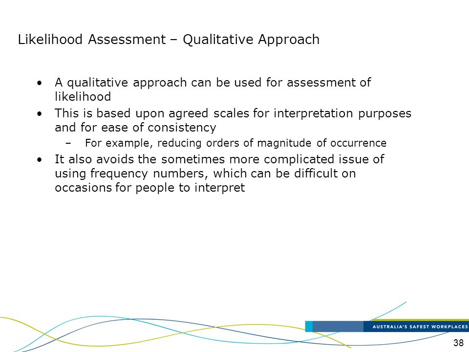 Likelihood Assessment – Qualitative Approach